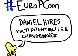 Daniel Hires at EUROPCOM by drawnalism